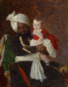 Prince Alexander of Battenberg (1886-1960) with Muhammed Bukhsh