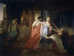Proculeius Preventing Cleopatra from Stabbing herself