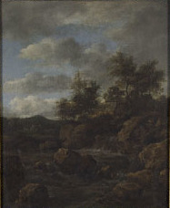 Rocky Landscape with Waterfall
