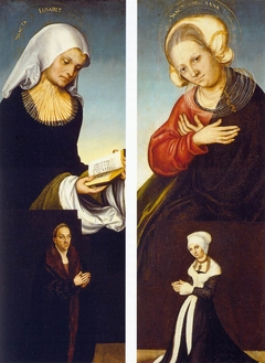 Saint Elizabeth with Duke George of Saxony as Donor (interior left wing)