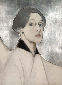 Self-Portrait with Silver Background