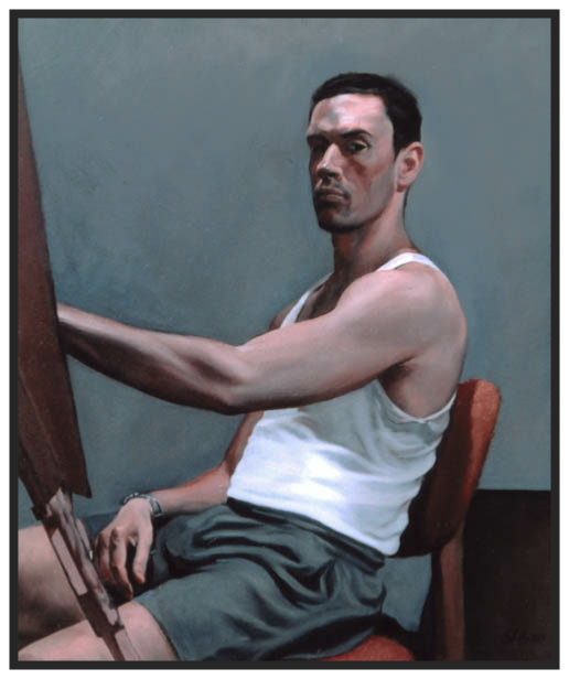 Selfportrait at the easel in the year 2001