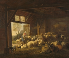Sheep and Goats in a Stable