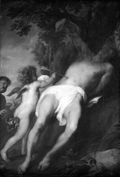 St Sebastian Being Tended by Two Angels