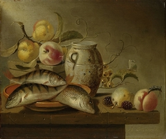 Still Life with Earthenware Jar, Fish and Fruit