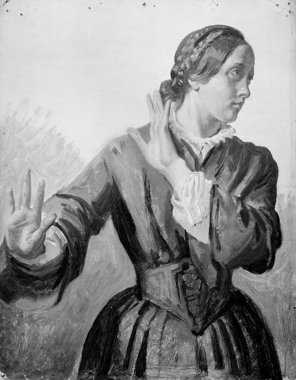 Studie af en ung kvinde (Thora Købke)