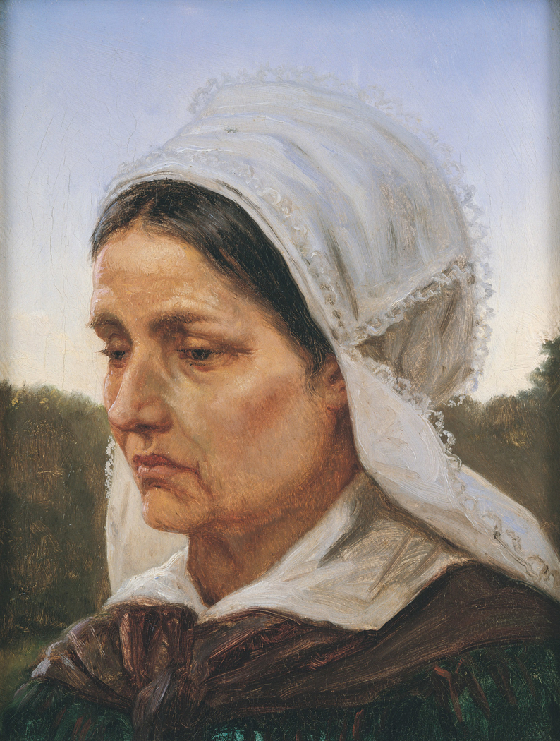 Study of a Woman from Arildsläge in Sweden in Festive Dress