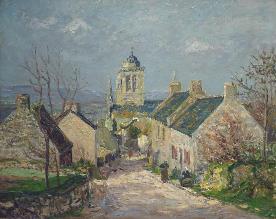 The Downward Street in Locronan