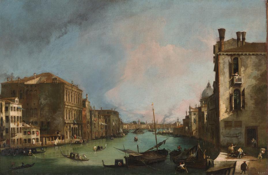 The Grand Canal in Venice with the Rialto Bridge