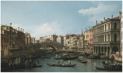 The Grand Canal looking North-East from the Palazzo Dolfin-Manin to the Rialto Bridge