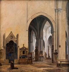 The interior of S. Maria sopra Minerva in Rome
