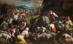 The Israelites drinking the miraculous Water