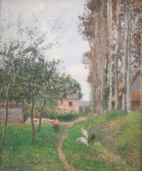 The Orchard at the Manoir d'Ango with Hens, Varengeville