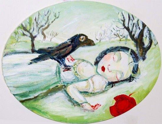The sleeping Snow White