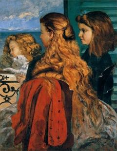 Three young Englishwomen by a Window