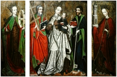 Triptych of Madonna and Child with Saints