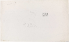 Twee schetsen van trekpaarden