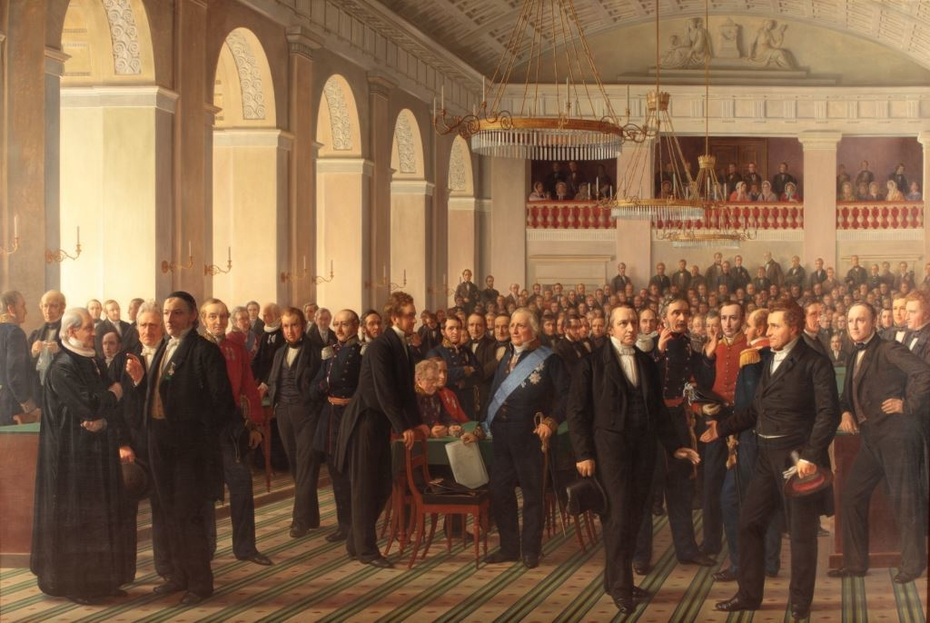 The fathers of the Danish constitution assembled in Copenhagen