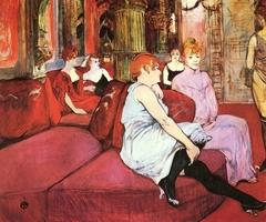 In the Salon of Rue des Moulins (Au Salon de la rue des Moulins)