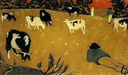 The Two Cattlemen on the Meadow