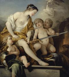 Vénus et l'Amour aux armes de Mars