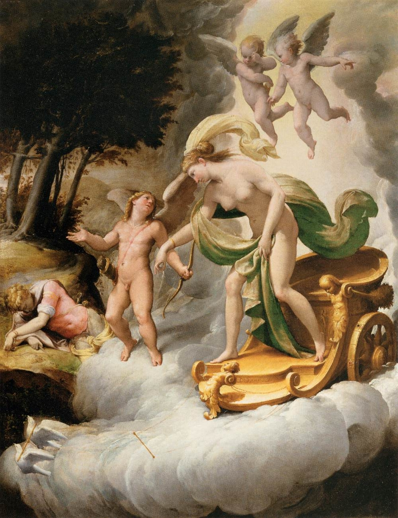 Venus Led by Cupid to the Dead Adonis