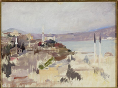 View of Bosporus. From the journey to Constantinople