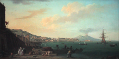 View of Naples vith Mount Vesuvius