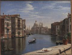 View of the Grand Canal, Venice. In the Background S. Maria della Salute