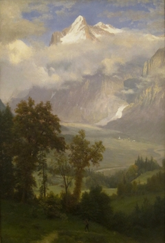 View of Wetterhorn from the Valley of Grindelwald