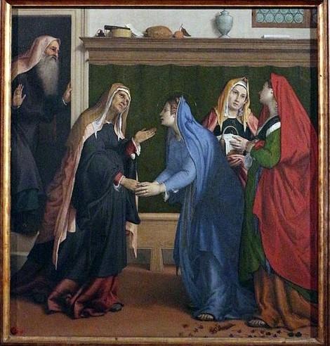 Visitation by Lorenzo Lotto