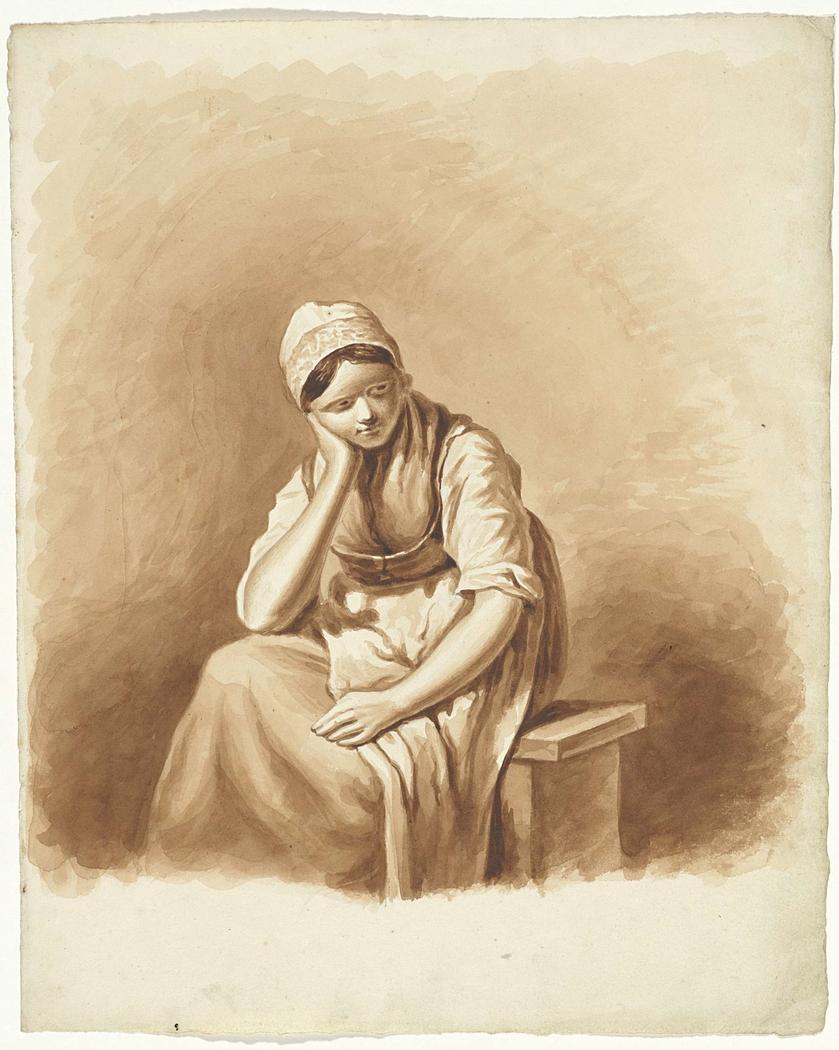 Op Een Bankje.Vrouw Zittend Op Een Bankje Pieter Van Loon Artwork On Useum