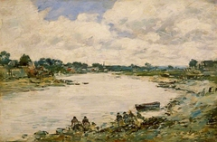 Washerwomen on the Banks of the Touques