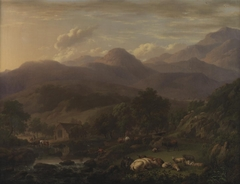 Welsh landscape with animals