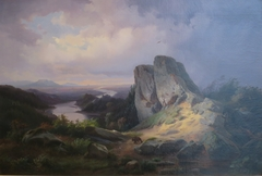 Western Landscape by Johann Hermann Carmiencke, oil on canvas, 1853,