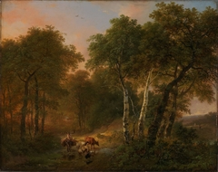 Wood Landscape with Animals