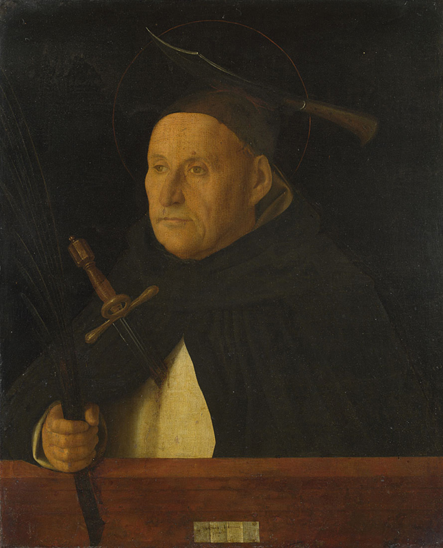 A Dominican, with the Attributes of Saint Peter Martyr
