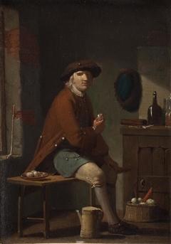 A Man Smoking His Pipe