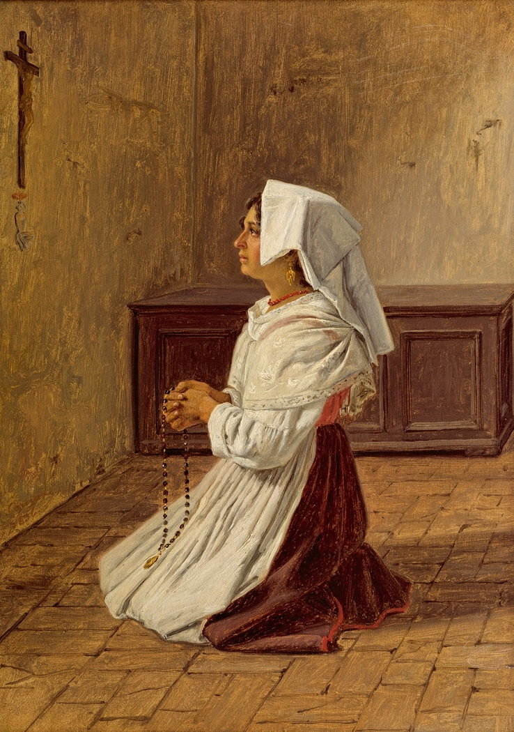 A Praying Italian Woman