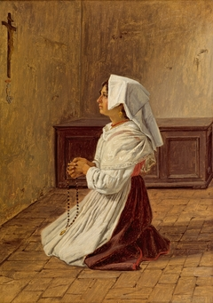 A Praying Italian Woman