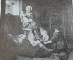 A Wounded Man being Treated in a Stable