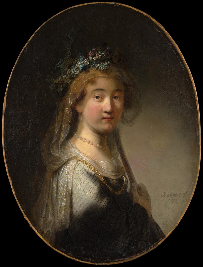 "A Young Woman as a Shepherdess (""Saskia as Flora"")"
