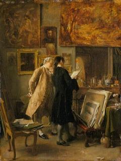 An Artist Showing his Work