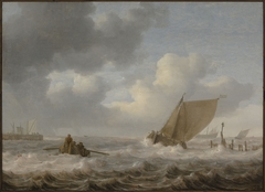 An Estuary in Stormy Weather