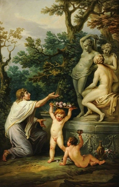 Anacreon sacrificing to the Three Graces