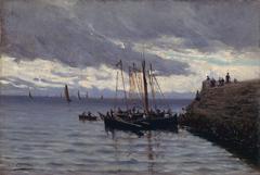 Arrivée des pêcheurs de sardines