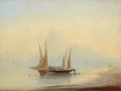 Barge at Sea Shore