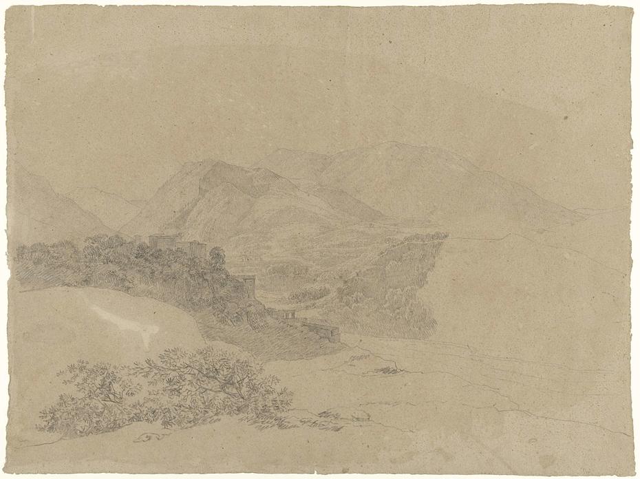 Berglandschap in de Romeinse Campagna