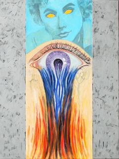 Bleeding Eye (2011) oil on linen,