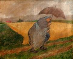 Bretonne au parapluie